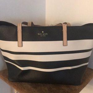 Kate Spade black and white tote bag